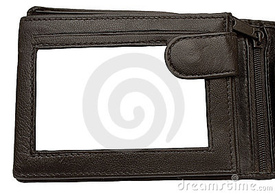 Leather Wallet Picture Frame w/ Path