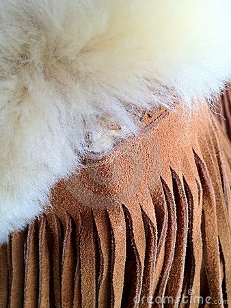 Leather and wool texture