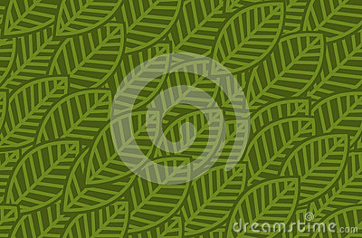 Leaves background pattern - vector illustration