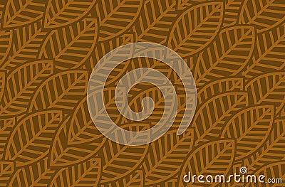 Leaves background pattern - vector illustration
