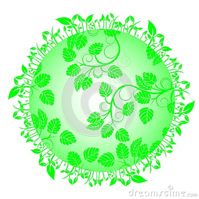 Leaves on circle