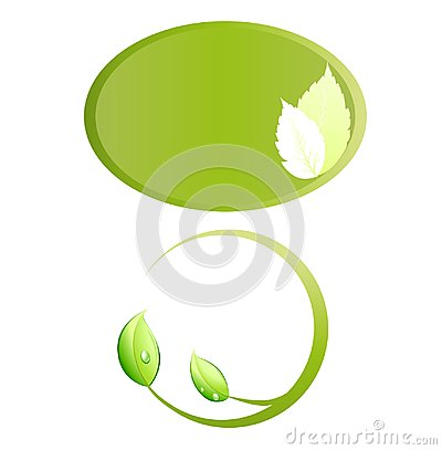 Leaves ecology logo frame vector Vector Illustration