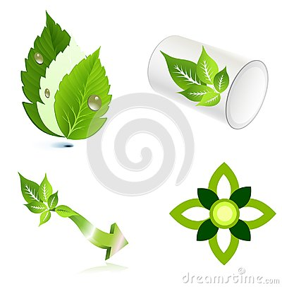 Leaves ecology logo icon design Vector Illustration