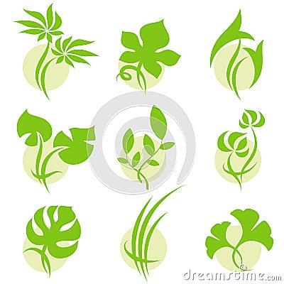 Leaves. Elements for design.