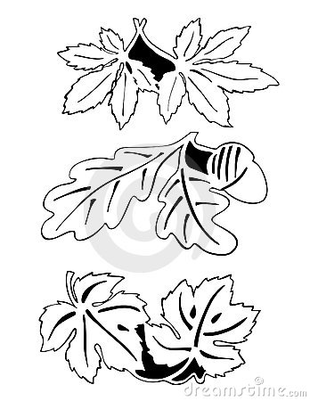 Free Leaves In Pair - Outline Stock Photography - 7321562