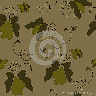 Leaves painted in brown color Stock Photo