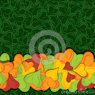 Leaves pop up border vector