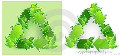 Leaves recycle symbol