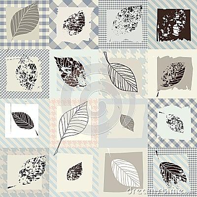 Leaves retro pattern