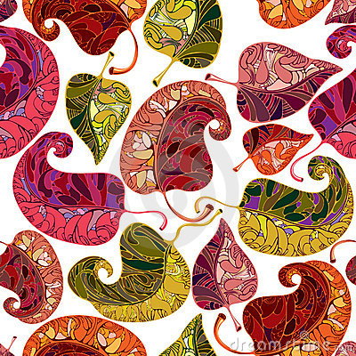 Leaves seamless pattern.