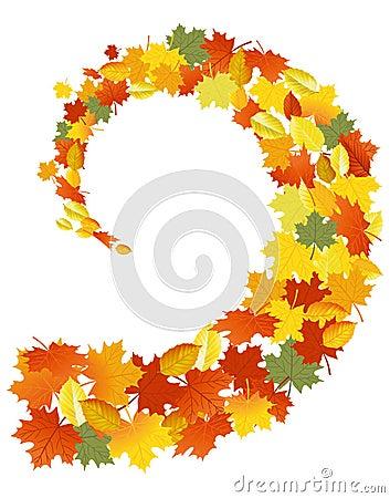 Leaves spiral