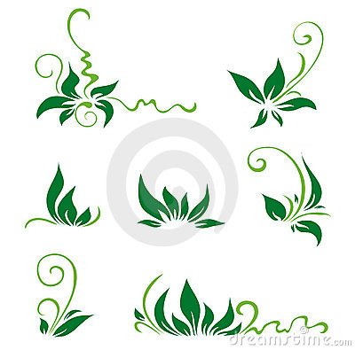 Leaves and swirls for decor