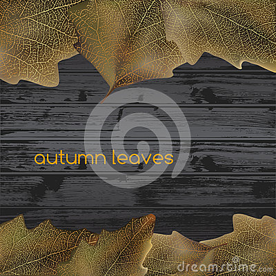 Leaves On Wood Stock Photo - Image: 28681490
