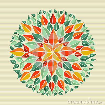 Free Leaves Yoga Mandala Royalty Free Stock Photos - 32018878