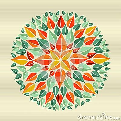 Leaves yoga mandala
