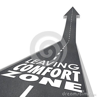 Free Leaving Comfort Zone Words Road Grow Increase New Experience Royalty Free Stock Photos - 52508188