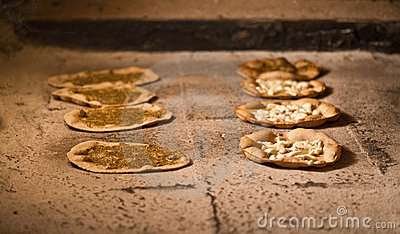 Lebanese manakish / oriental food for breakfast ba