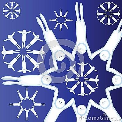 Lebendige Schneeflocken
