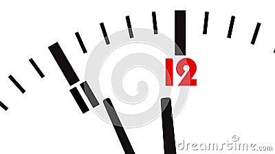 Lebhafte Borduhr Letzte Sekunden zu 12 Uhr vektor abbildung