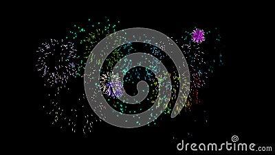 Lebhafte Feuerwerke