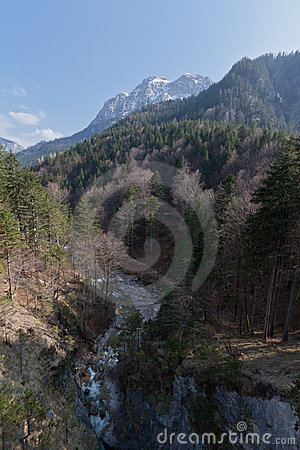Lech River in Fussen Germany