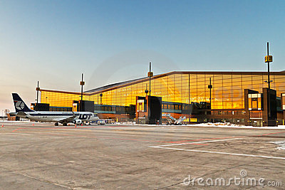 Lech Walesa Airport in Gdansk Editorial Image