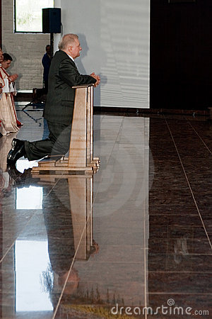 Lech Walesa, prayer. Editorial Photography