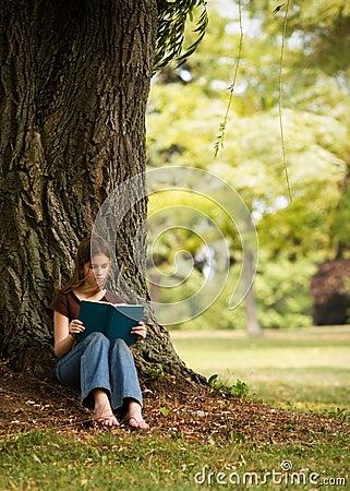 Lectura en la cortina