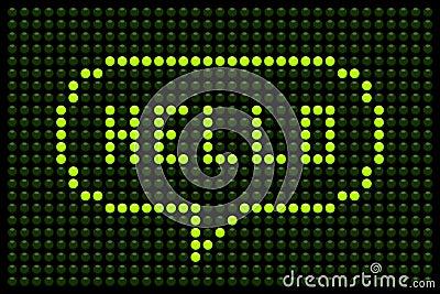 Hello LED Speech Bubble