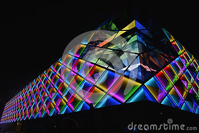 Led Curtain Wall,night Lighting Of Modern Commercial