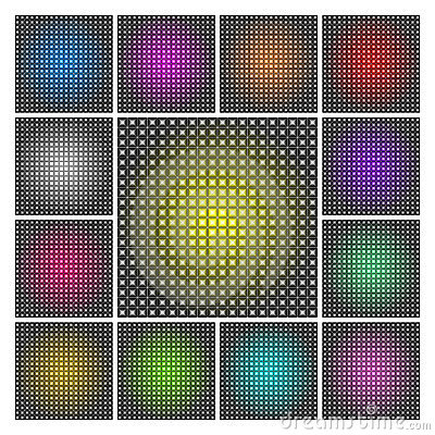 LED display backgrounds