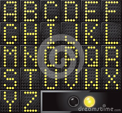 Led dot display letters