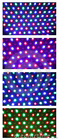 Led illuminated collage