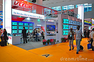 Led and lcd tv booth at canton fair 2011 Editorial Photography