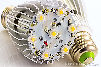 LED light bulbs E27 with 1 Watts SMD chips