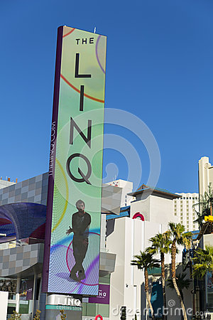 The LED Linq Sign in Las Vegas, NV on January 04, 2014 Editorial Photography