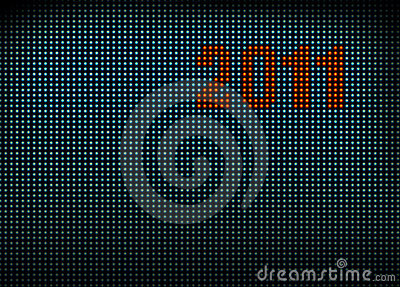 Led wall with numbers 2011