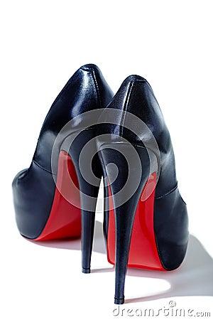 Lederne Schuhe
