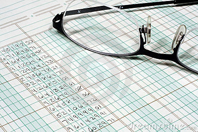 Ledger Paper and Glasses