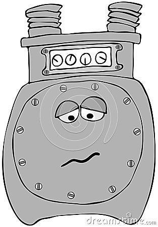 Ledsen gasmeter