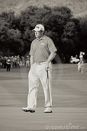 Lee Westwood - 17th Green - NGC2010 Editorial Image