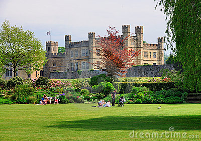 Leeds Castle, England Editorial Stock Photo