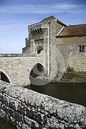 Leeds castle moat bridge kent england