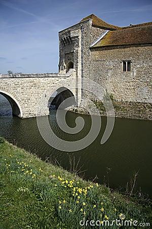 Leeds castle moat kent england