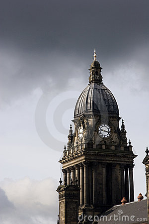 Free Leeds Town Hall Clock , UK Stock Photography - 4537462