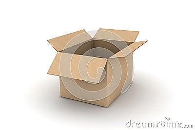 Leeg karton - geïsoleerde illustratie
