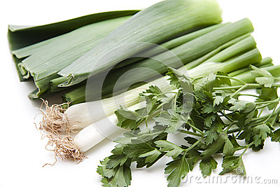 Leek with parsley