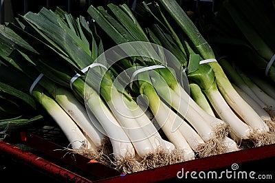Leeks at the market