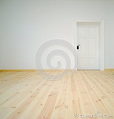leerer wei er raum mit t r lizenzfreies stockfoto bild 18478065. Black Bedroom Furniture Sets. Home Design Ideas