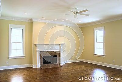 leeres wohnzimmer mit kamin lizenzfreie stockfotografie bild 4037937. Black Bedroom Furniture Sets. Home Design Ideas